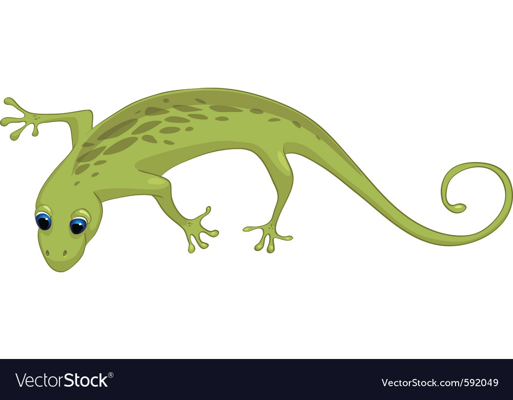 Cartoon character lizard vector | Price: 1 Credit (USD $1)