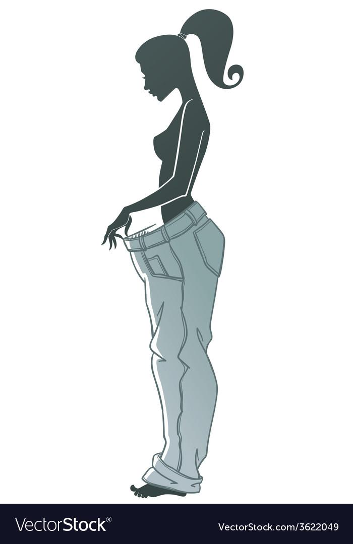 Diet woman vector | Price: 1 Credit (USD $1)
