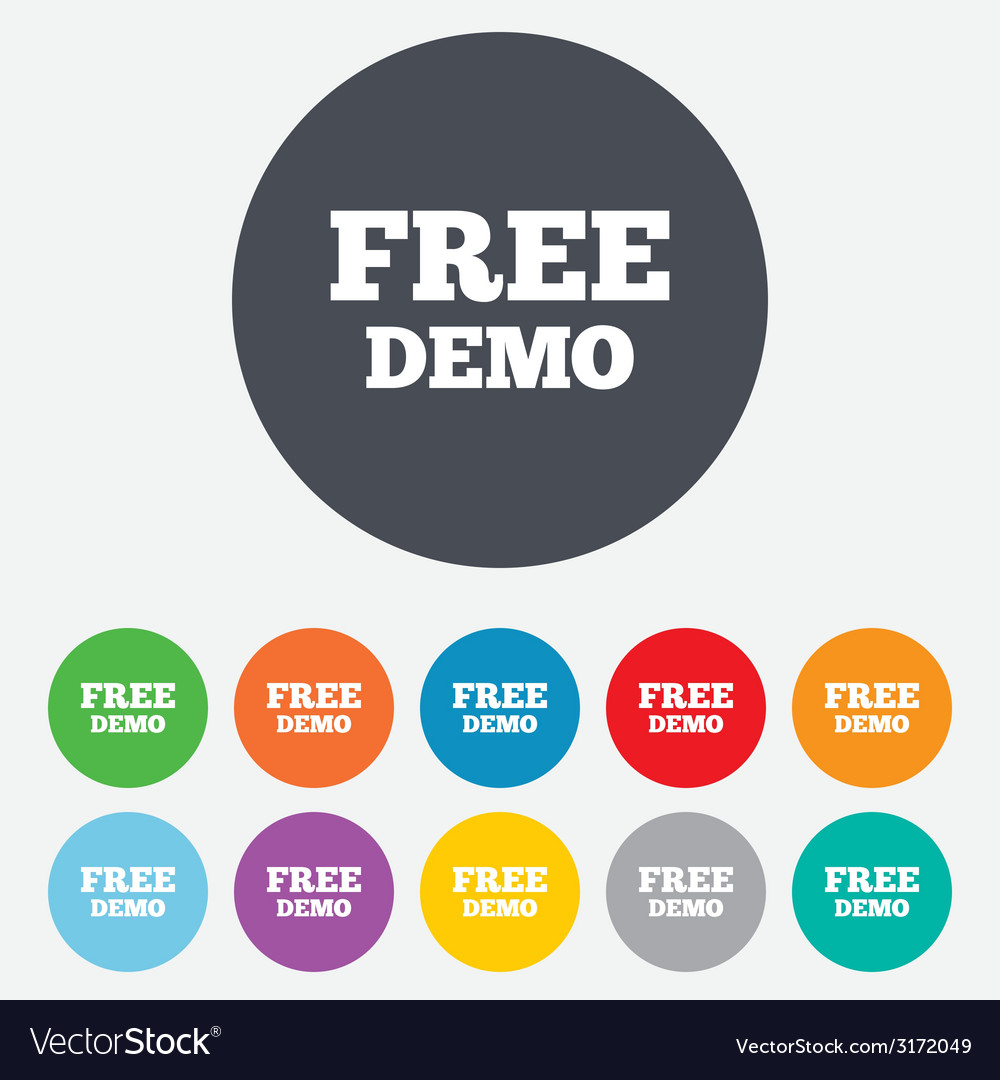 Free demo sign icon demonstration symbol vector | Price: 1 Credit (USD $1)