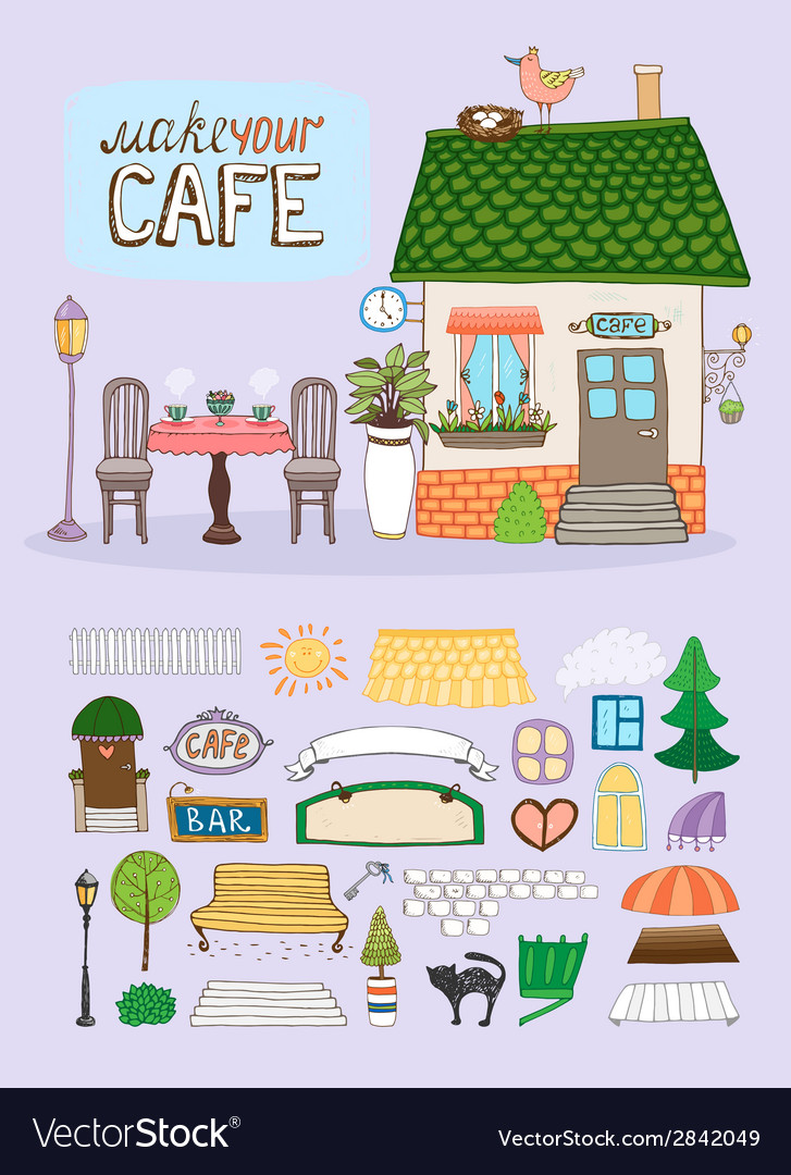 Make your cafe vector | Price: 1 Credit (USD $1)