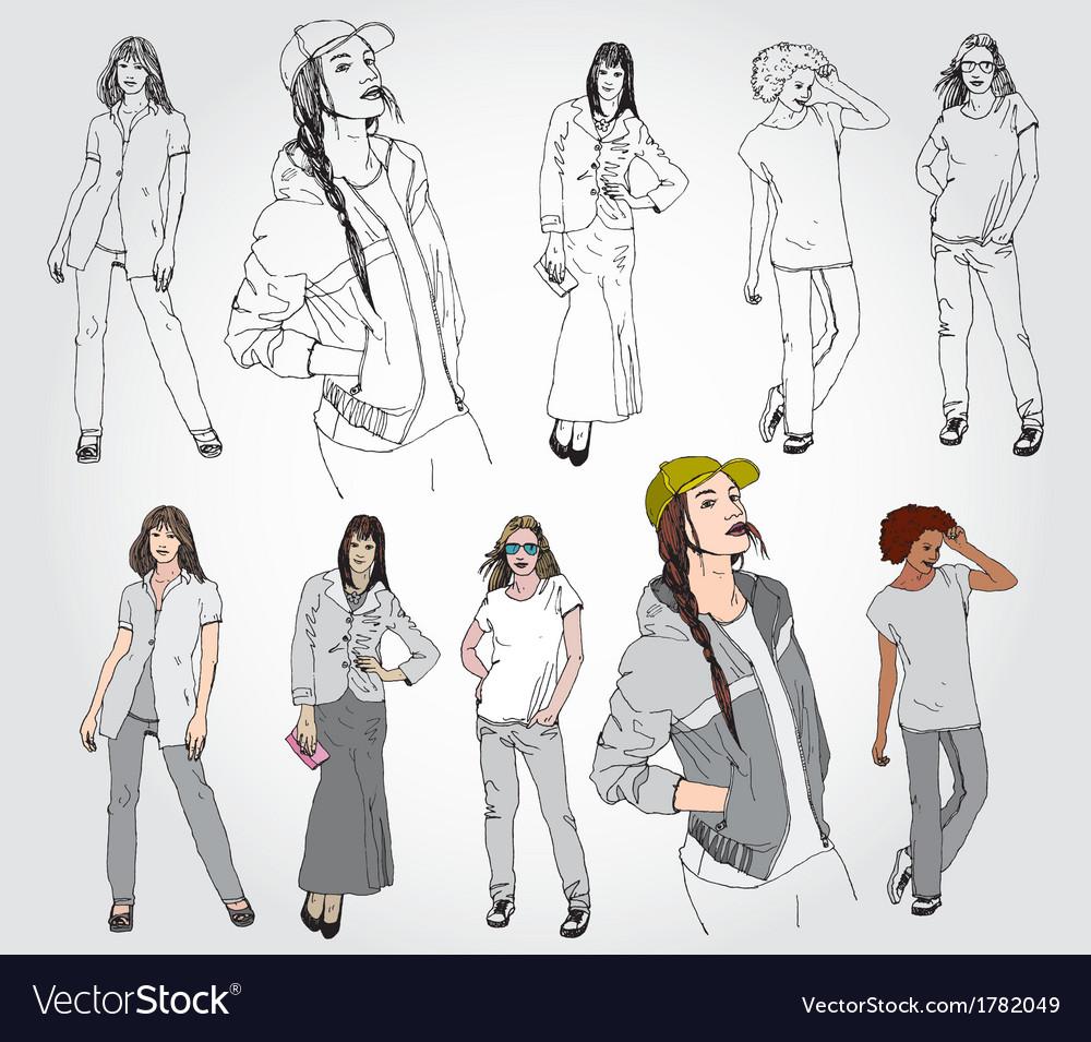 Models vector | Price: 1 Credit (USD $1)