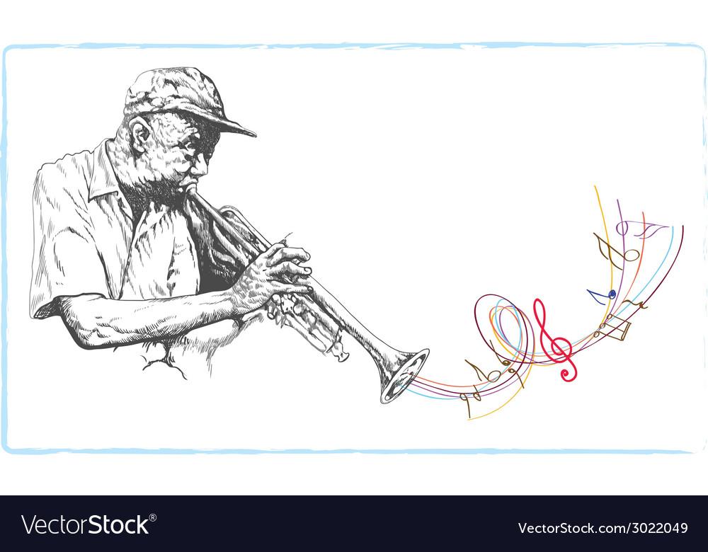 Musician trumpeter vector | Price: 1 Credit (USD $1)