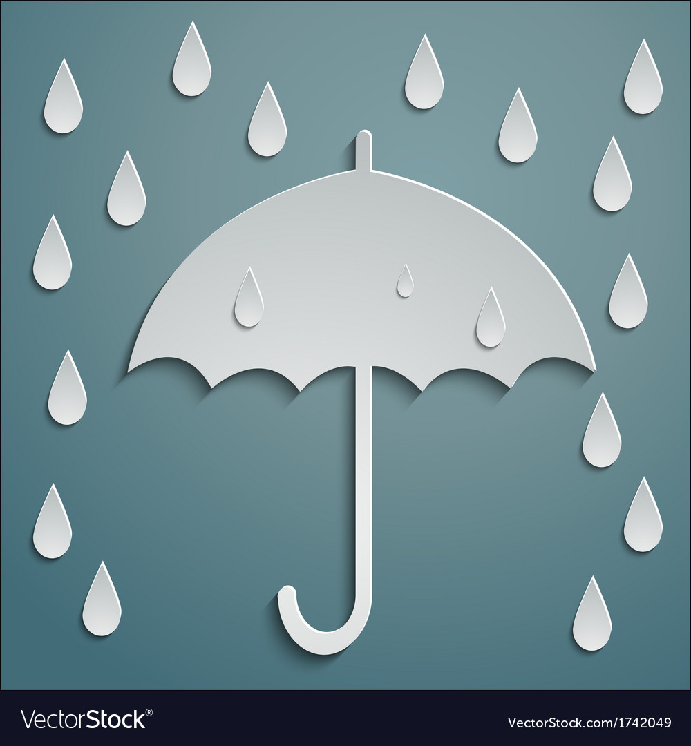 Rain umbrella vector | Price: 1 Credit (USD $1)