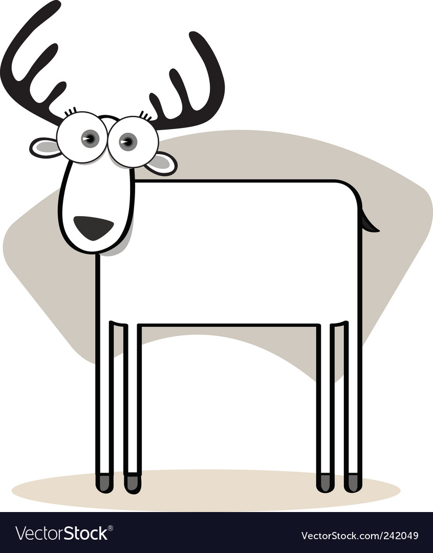 Square animal  deer vector | Price: 1 Credit (USD $1)