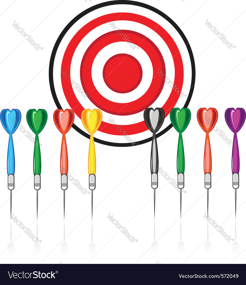 Target and darts vector | Price: 1 Credit (USD $1)