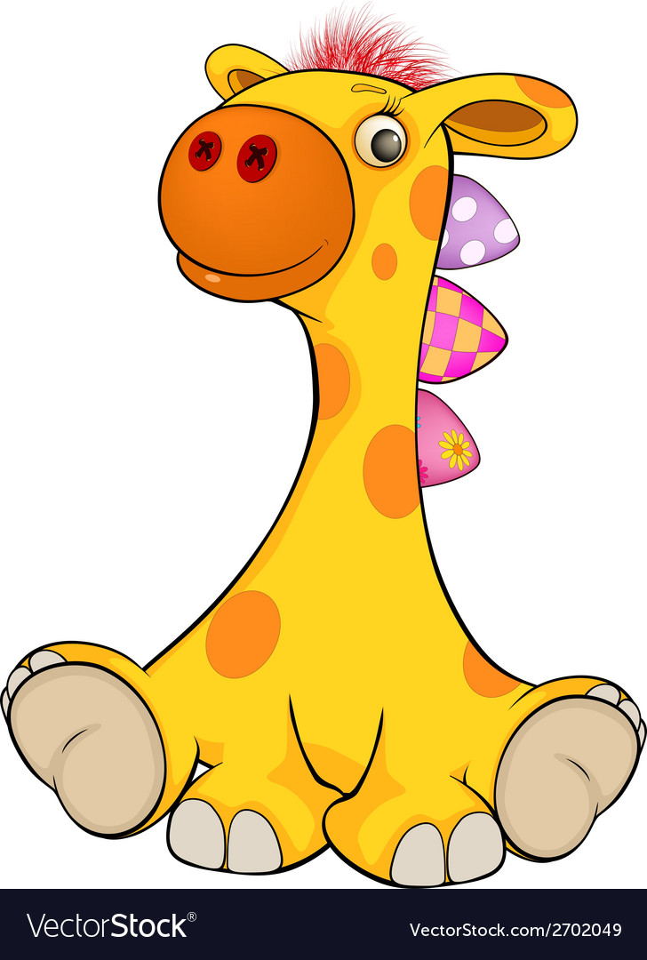 Toy giraffe cartoon vector   Price: 1 Credit (USD $1)