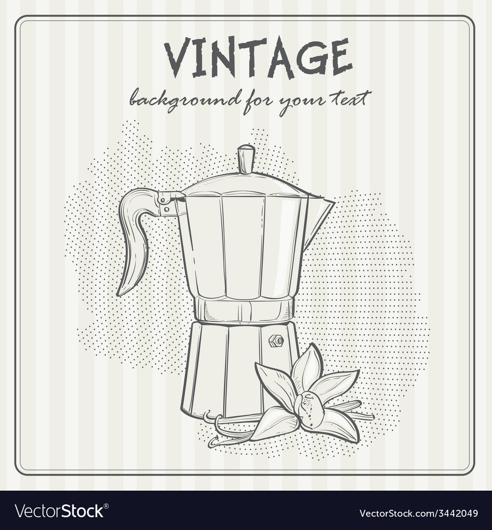 Vintage background with coffee vector | Price: 1 Credit (USD $1)