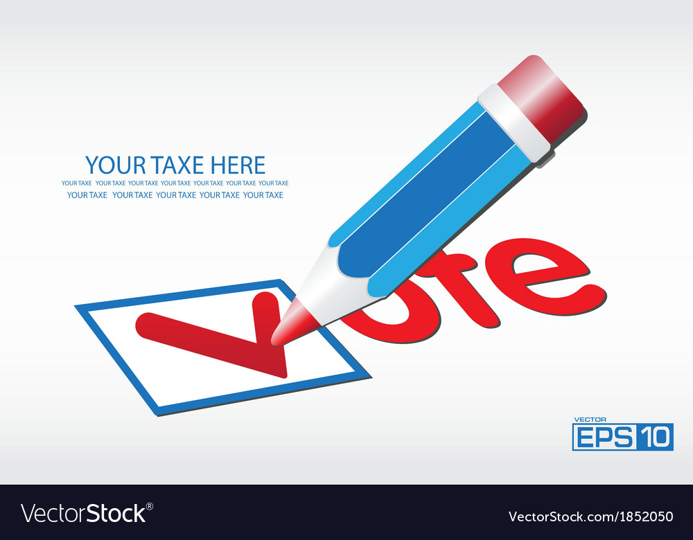 Ballot vote background vector | Price: 1 Credit (USD $1)