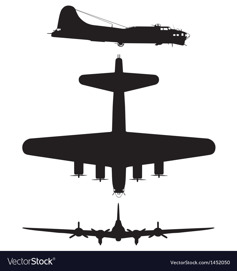 Boeing b17 flying fortress vector | Price: 1 Credit (USD $1)