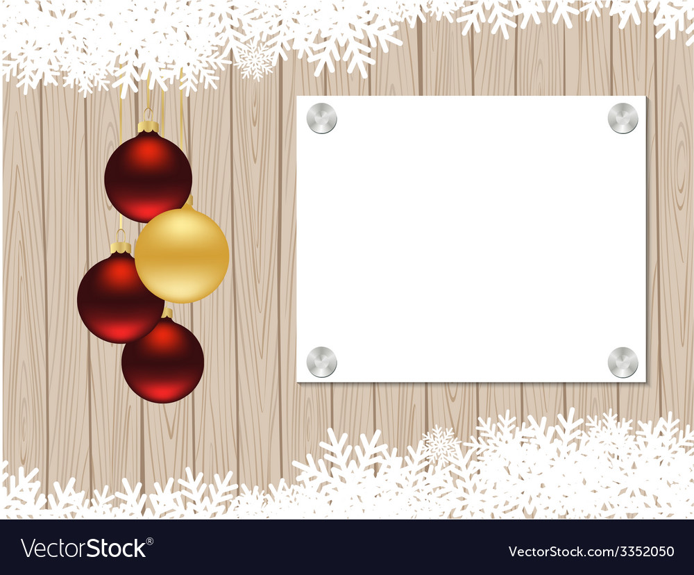 Christmas wooden frame vector | Price: 1 Credit (USD $1)