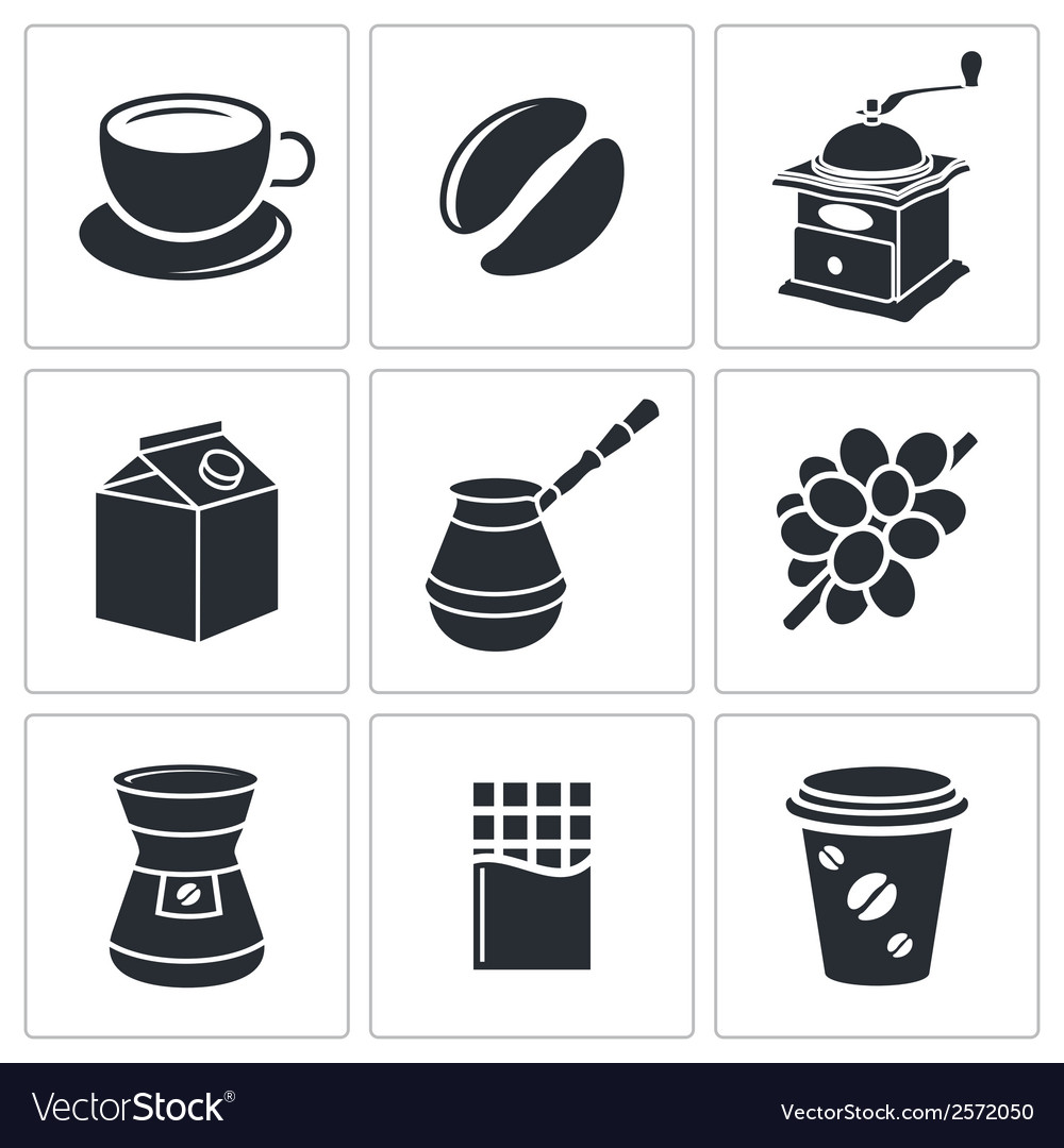 Coffee icon collection vector | Price: 1 Credit (USD $1)