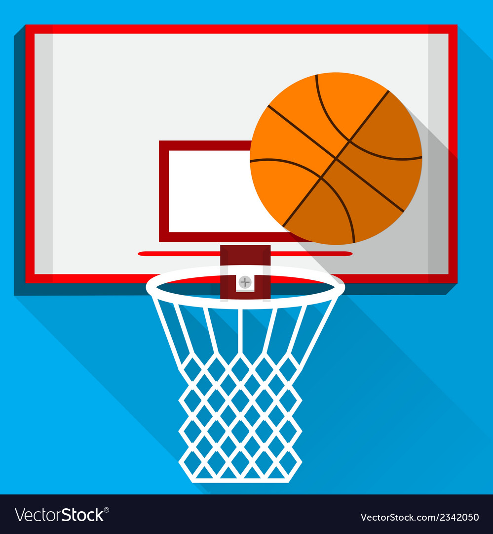 Flat of play basketball vector | Price: 1 Credit (USD $1)