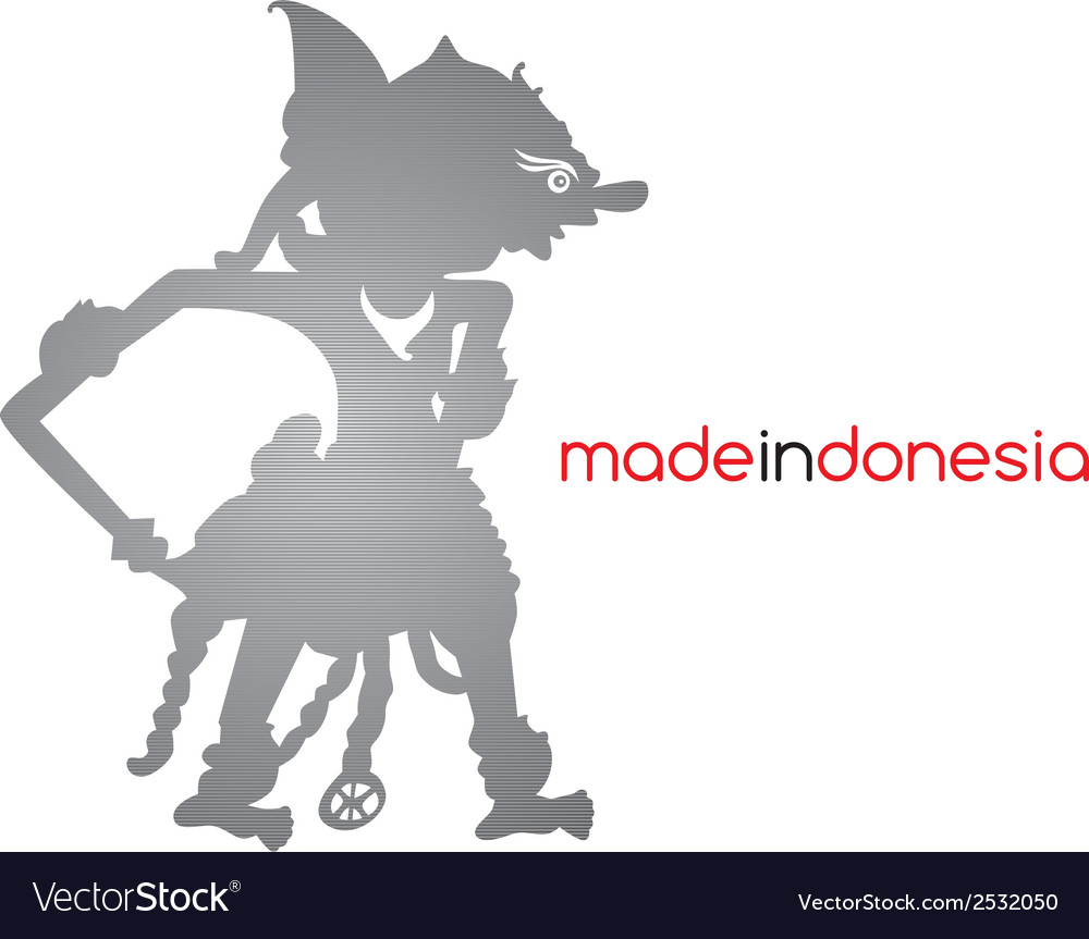 Indonesia silhouette vector | Price: 1 Credit (USD $1)