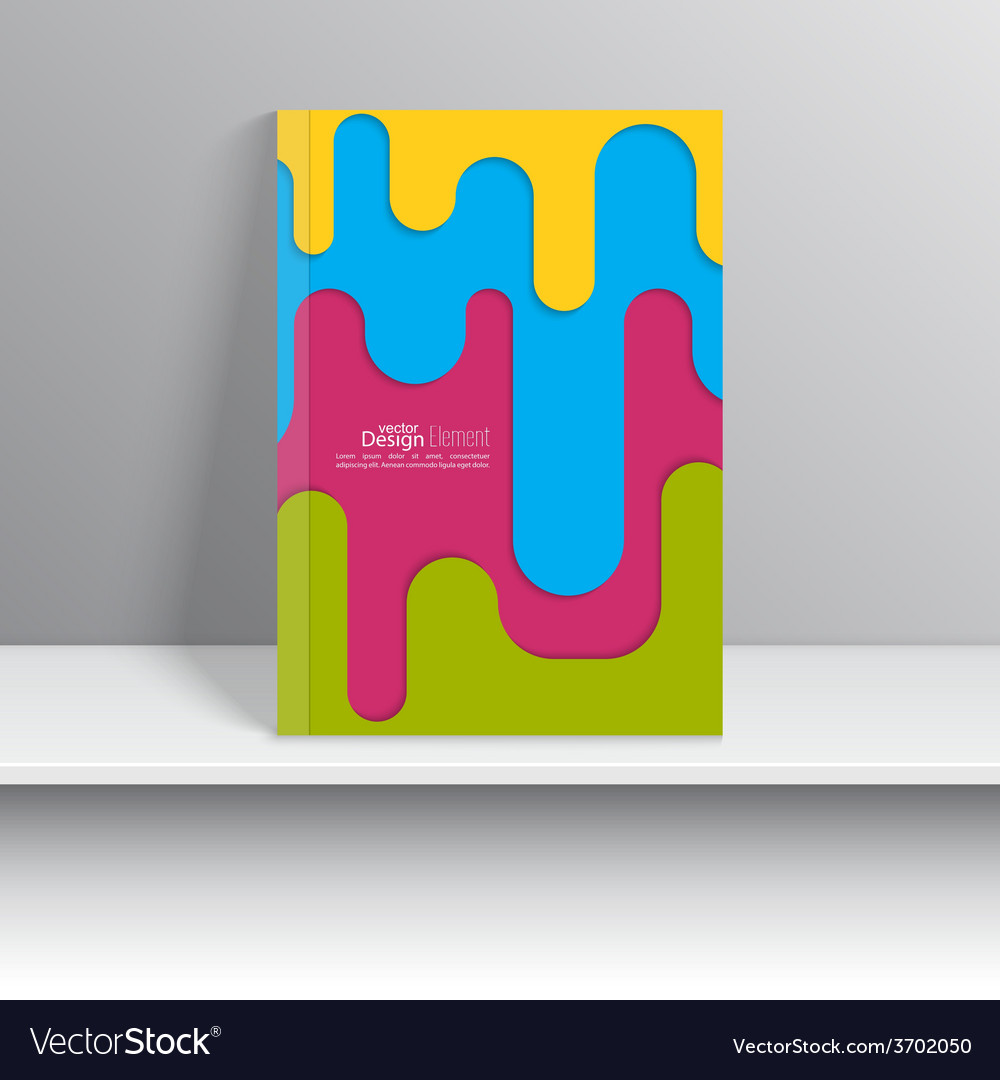 Magazine cover with colored strips of paper vector | Price: 1 Credit (USD $1)