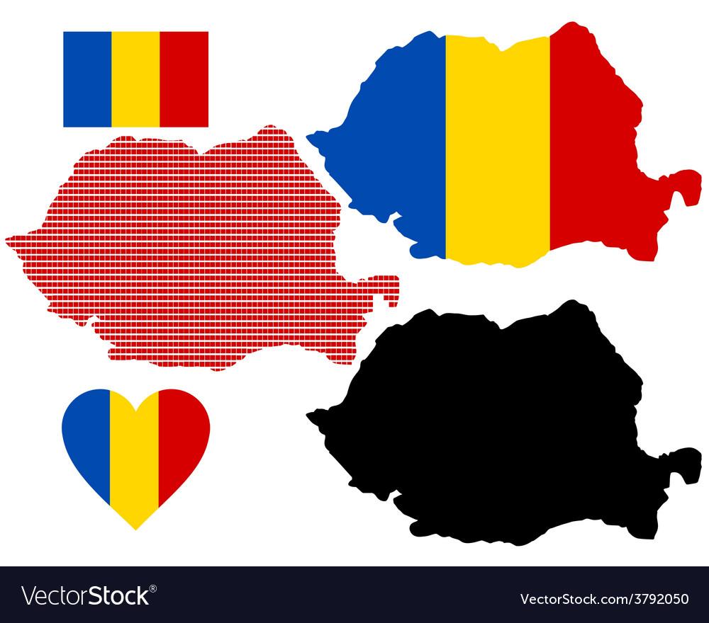 Map of romania vector | Price: 1 Credit (USD $1)