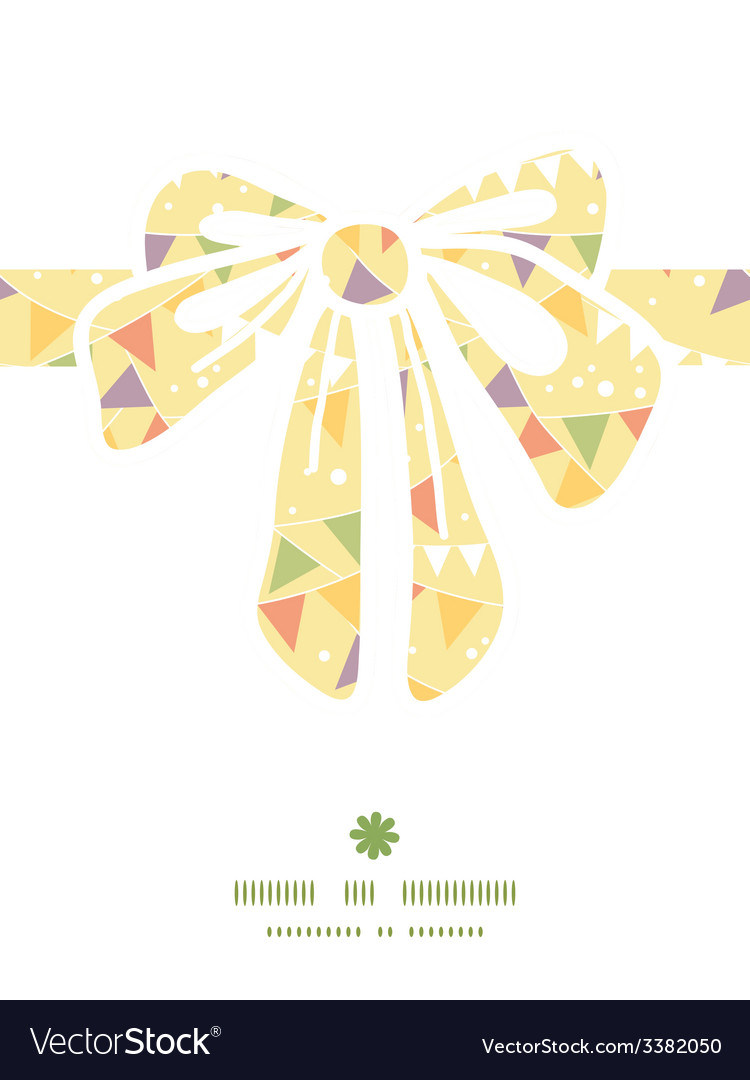 Party decorations bunting gift bow silhouette vector | Price: 1 Credit (USD $1)