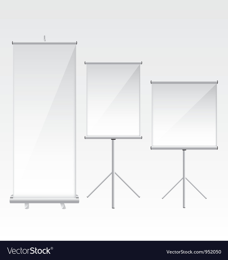 Roll up banner glass vector | Price: 3 Credit (USD $3)