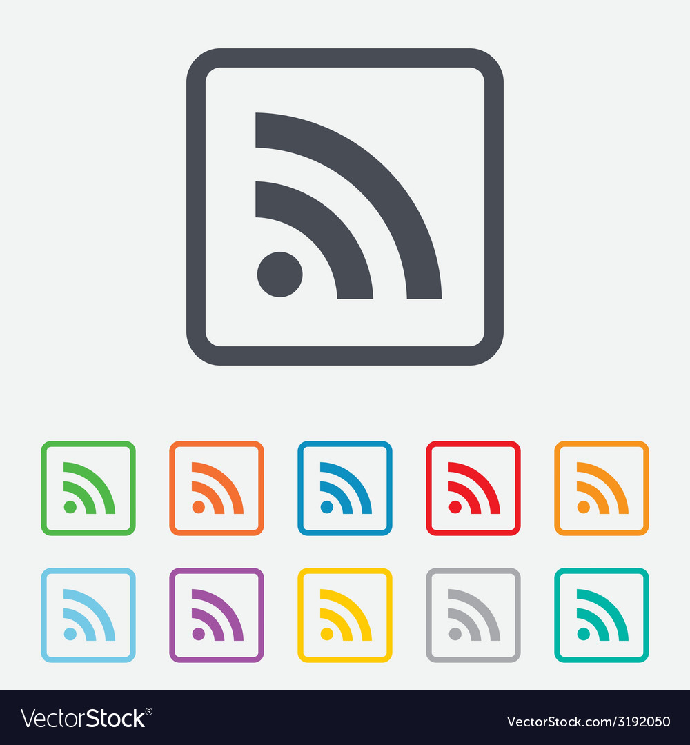 Rss sign icon rss feed symbol vector | Price: 1 Credit (USD $1)