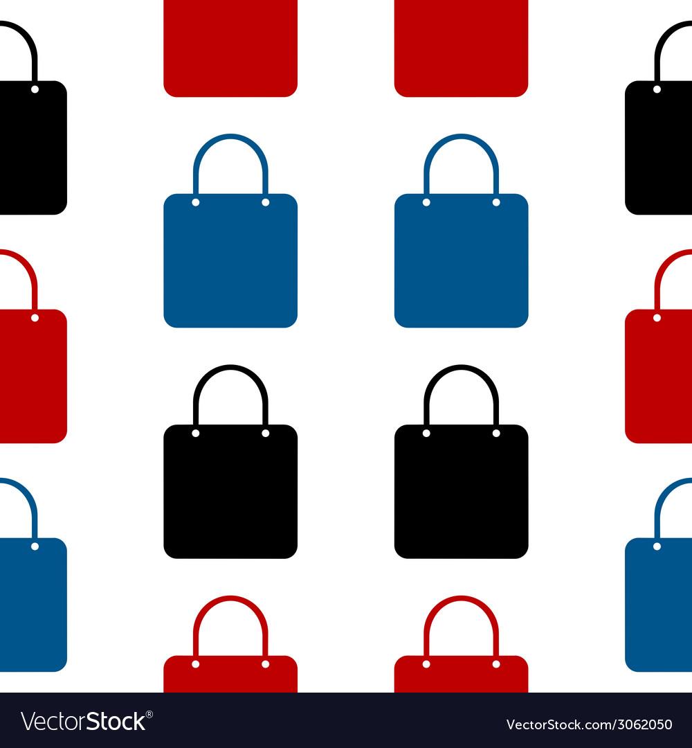 Shopping bag symbol seamless pattern vector | Price: 1 Credit (USD $1)