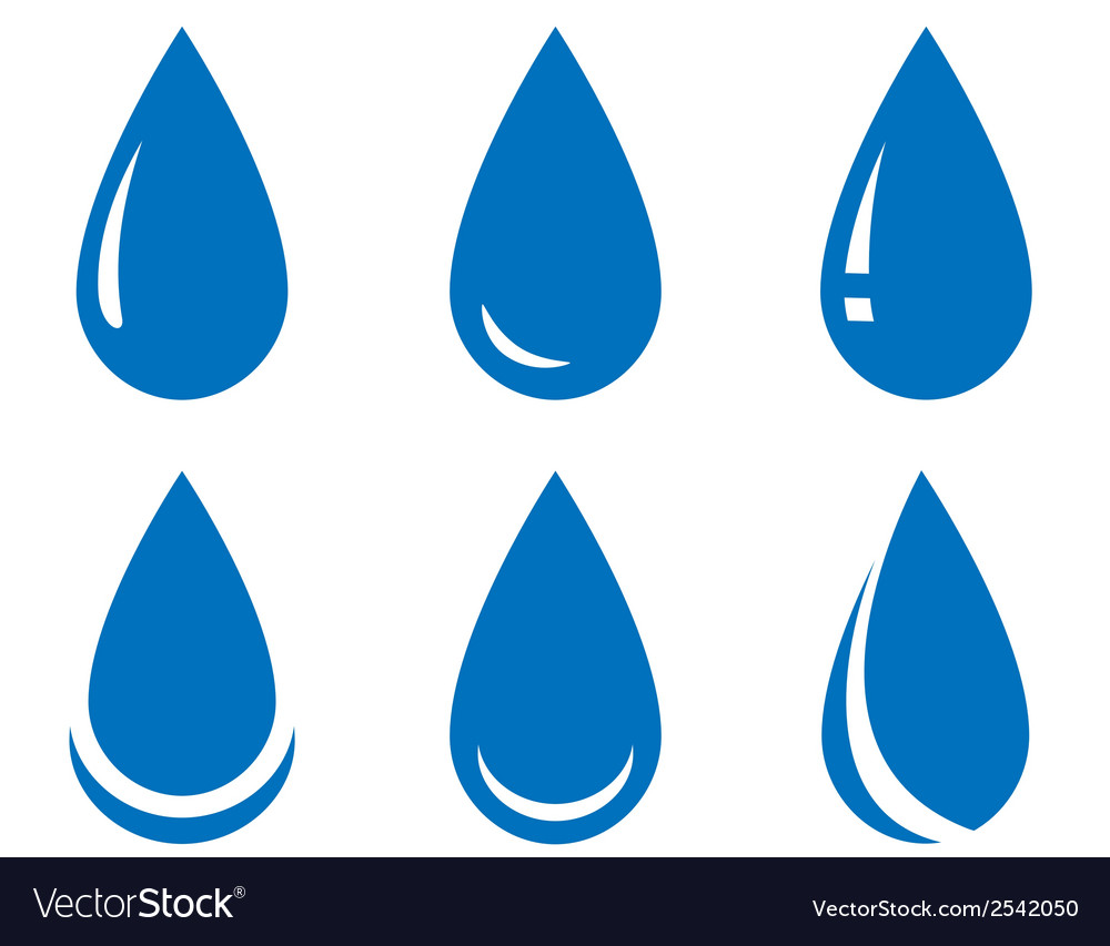 Water drop set vector | Price: 1 Credit (USD $1)