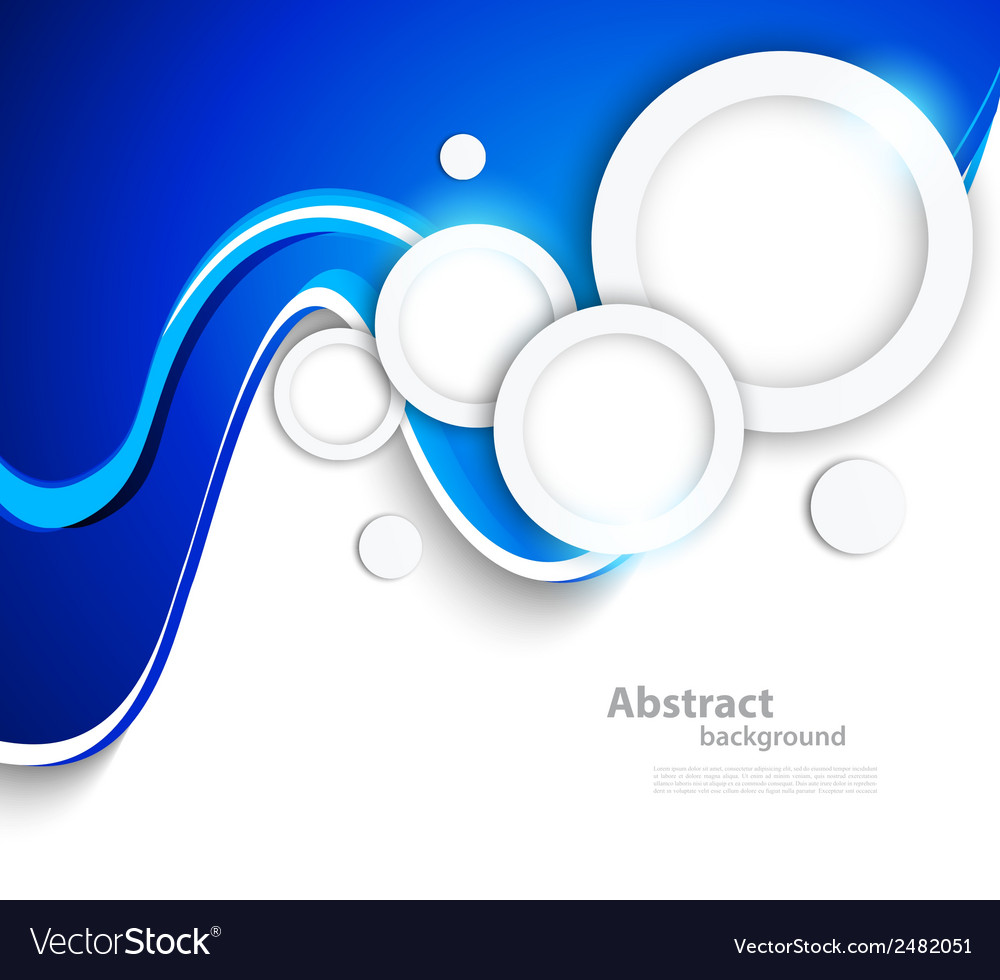 Abstract wavy background with circles vector | Price: 1 Credit (USD $1)