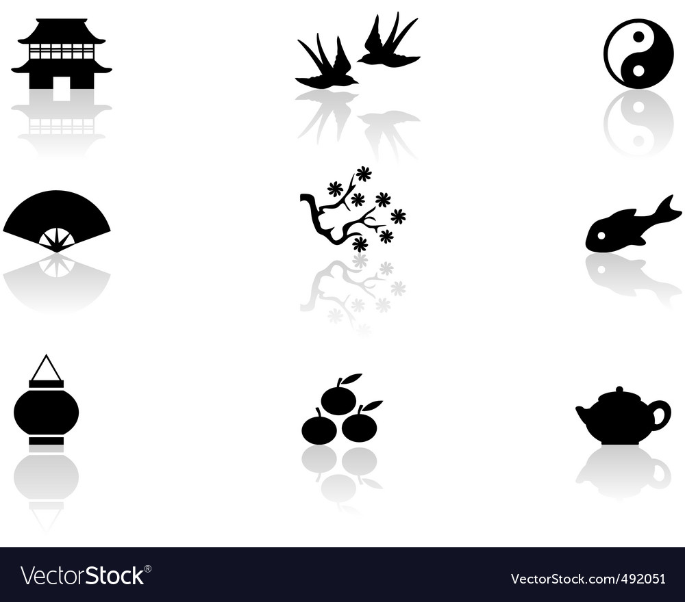 Asian symbols vector | Price: 1 Credit (USD $1)