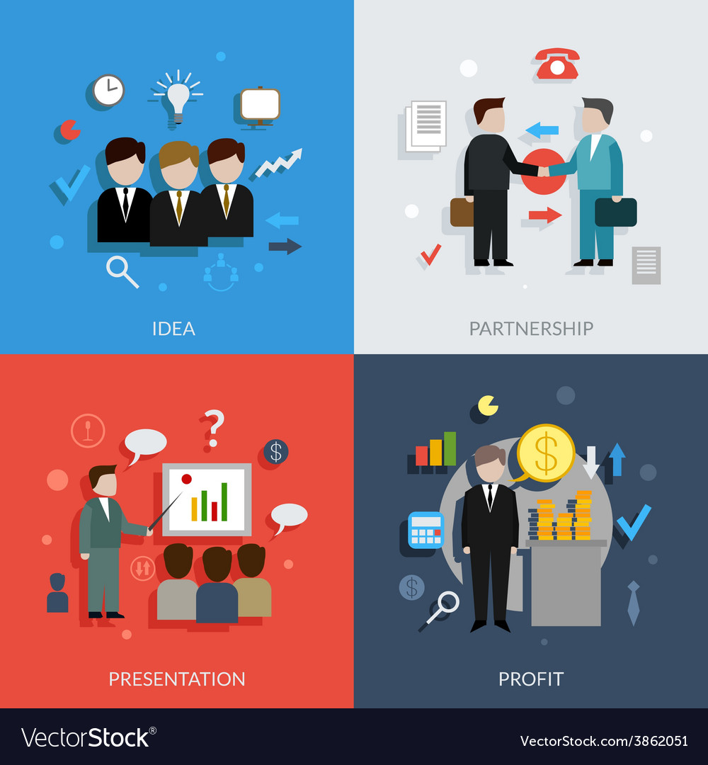 Business people set vector | Price: 1 Credit (USD $1)
