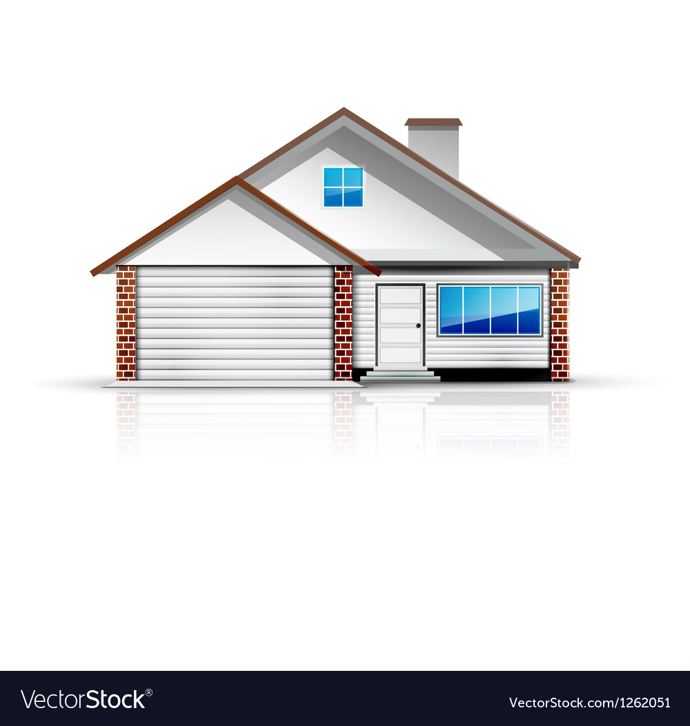 Clean and glossy detailed house icon vector | Price: 3 Credit (USD $3)