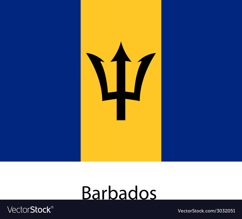 Flag of the country barbados vector   Price: 1 Credit (USD $1)