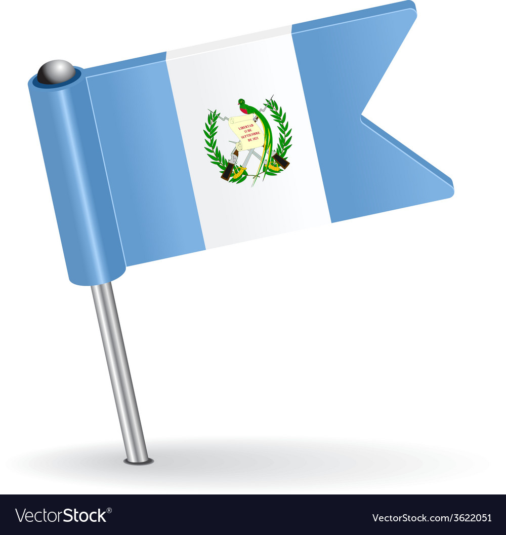 Guatemala pin icon flag vector | Price: 1 Credit (USD $1)
