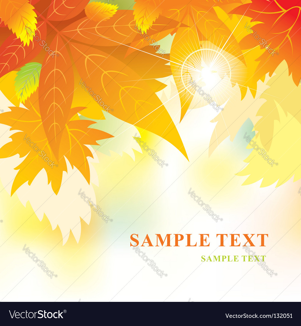 Soft background with autumn leaves vector | Price: 1 Credit (USD $1)