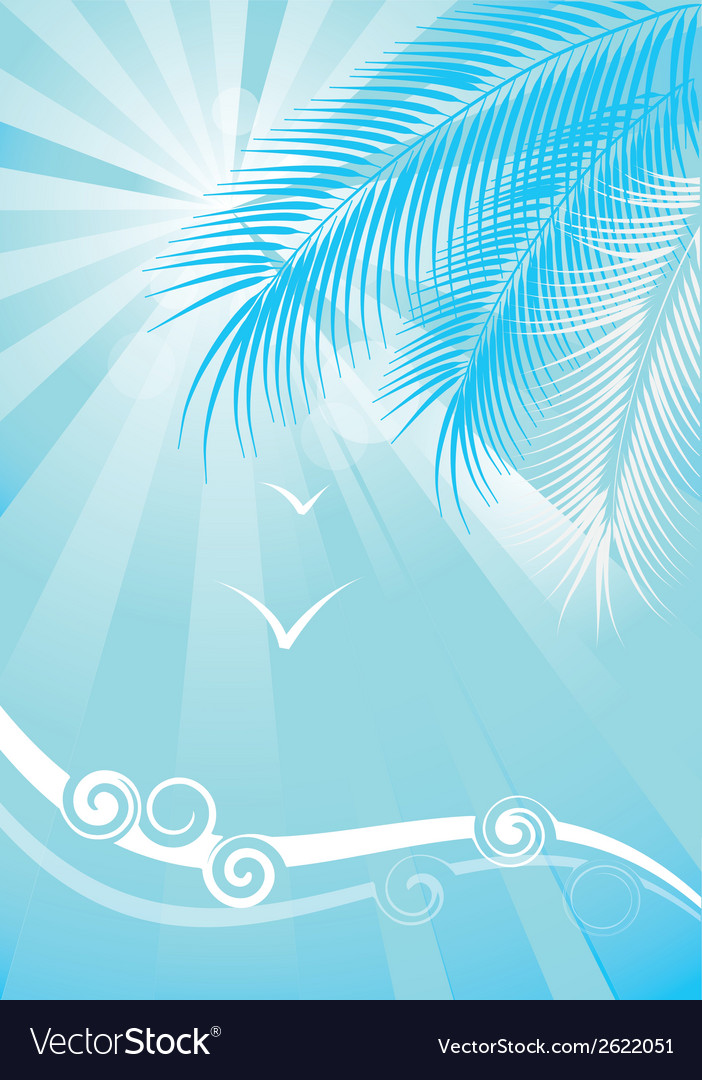 Summer blue background vector | Price: 1 Credit (USD $1)