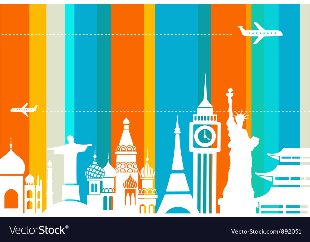 Travel background - vector | Price: 1 Credit (USD $1)