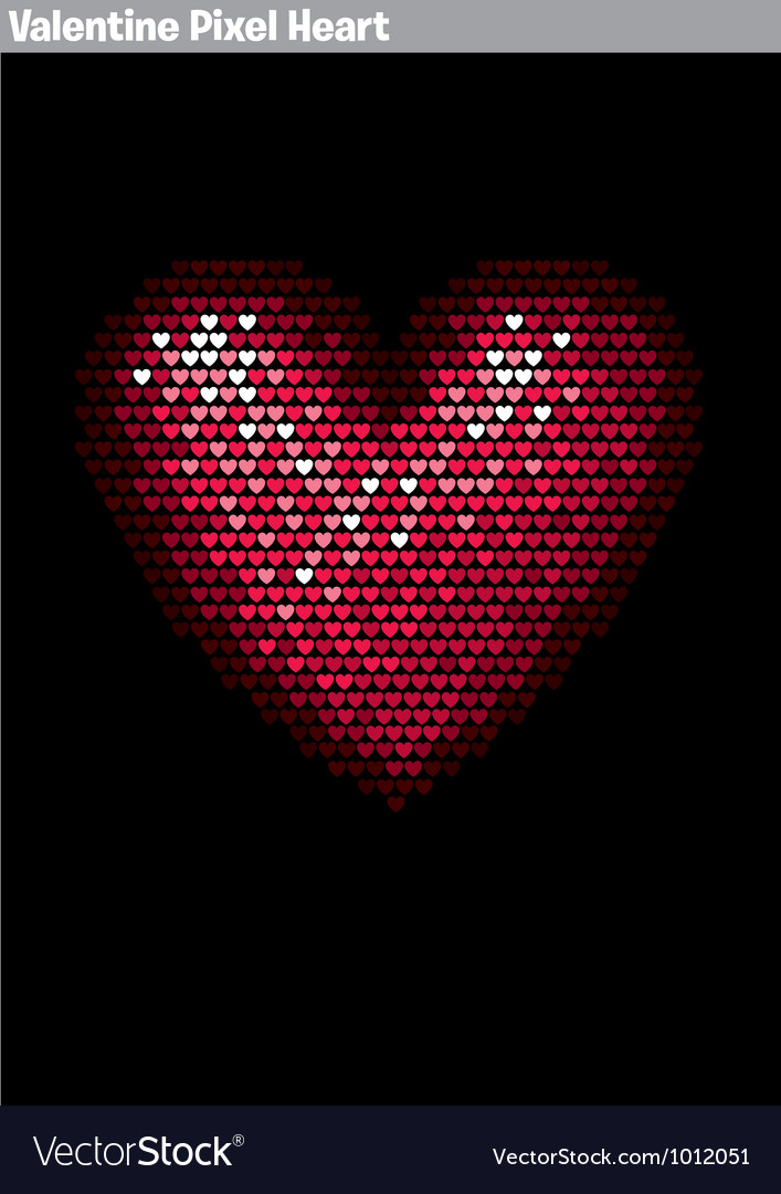 Valentine pixel heart vector | Price: 1 Credit (USD $1)