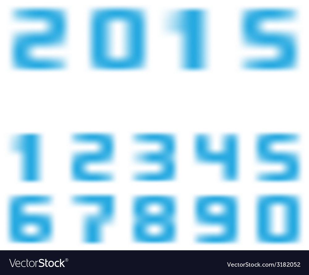 Blurred numbers vector | Price: 1 Credit (USD $1)