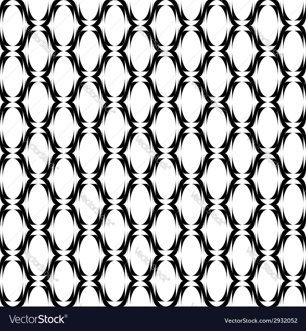 Design seamless monochrome ellipse lines pattern vector | Price: 1 Credit (USD $1)