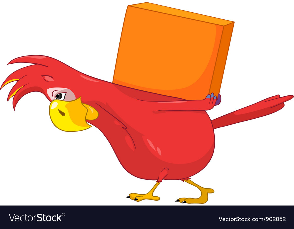 Funny parrot delivery vector | Price: 3 Credit (USD $3)