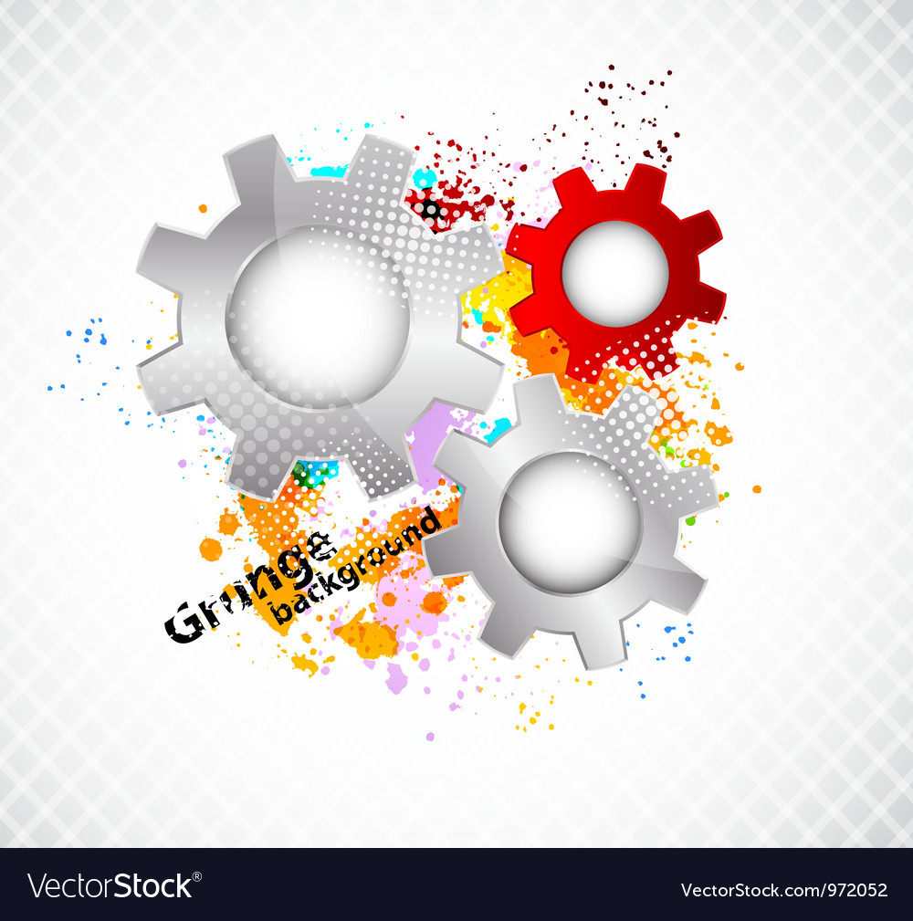 Grunge background with gears vector | Price: 1 Credit (USD $1)