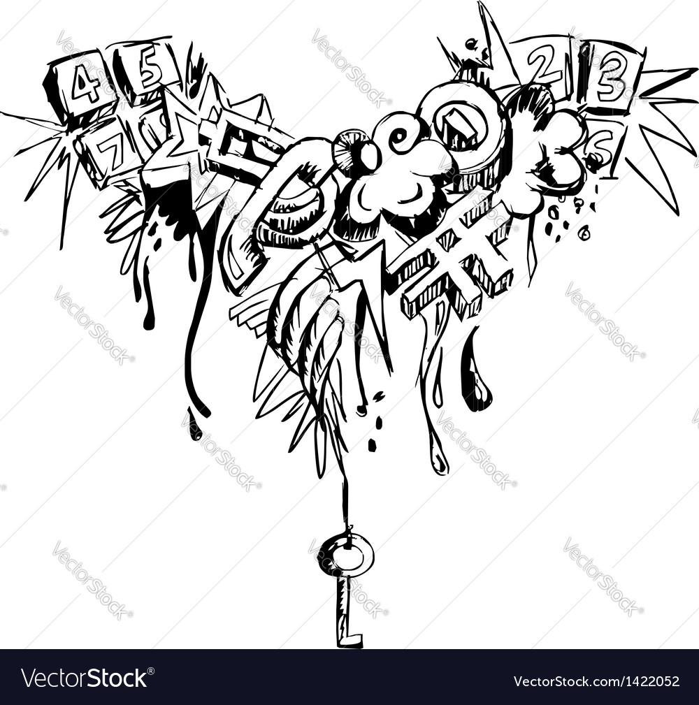 Grunge grafitti vector | Price: 1 Credit (USD $1)