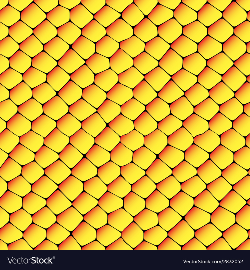 Orange and yellow seamless honeycombs texture vector | Price: 1 Credit (USD $1)
