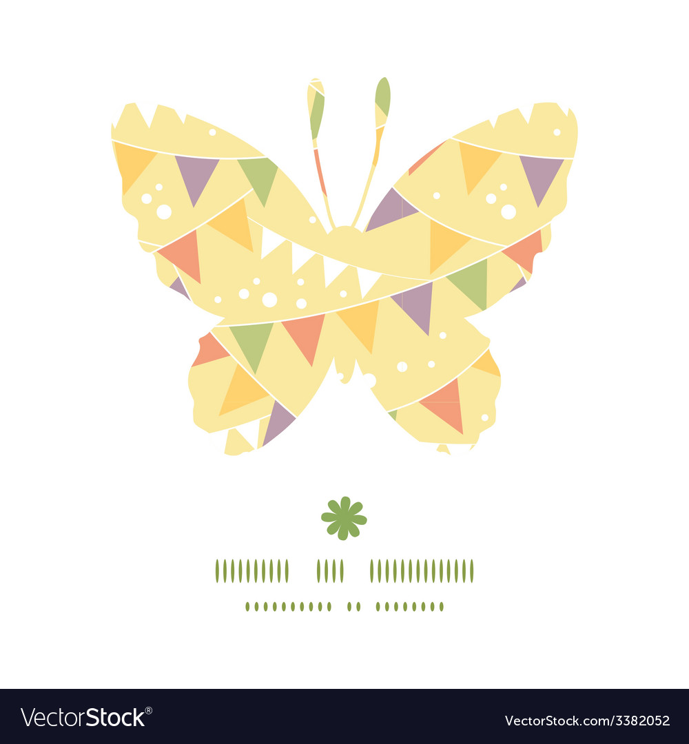 Party decorations bunting butterfly silhouette vector | Price: 1 Credit (USD $1)