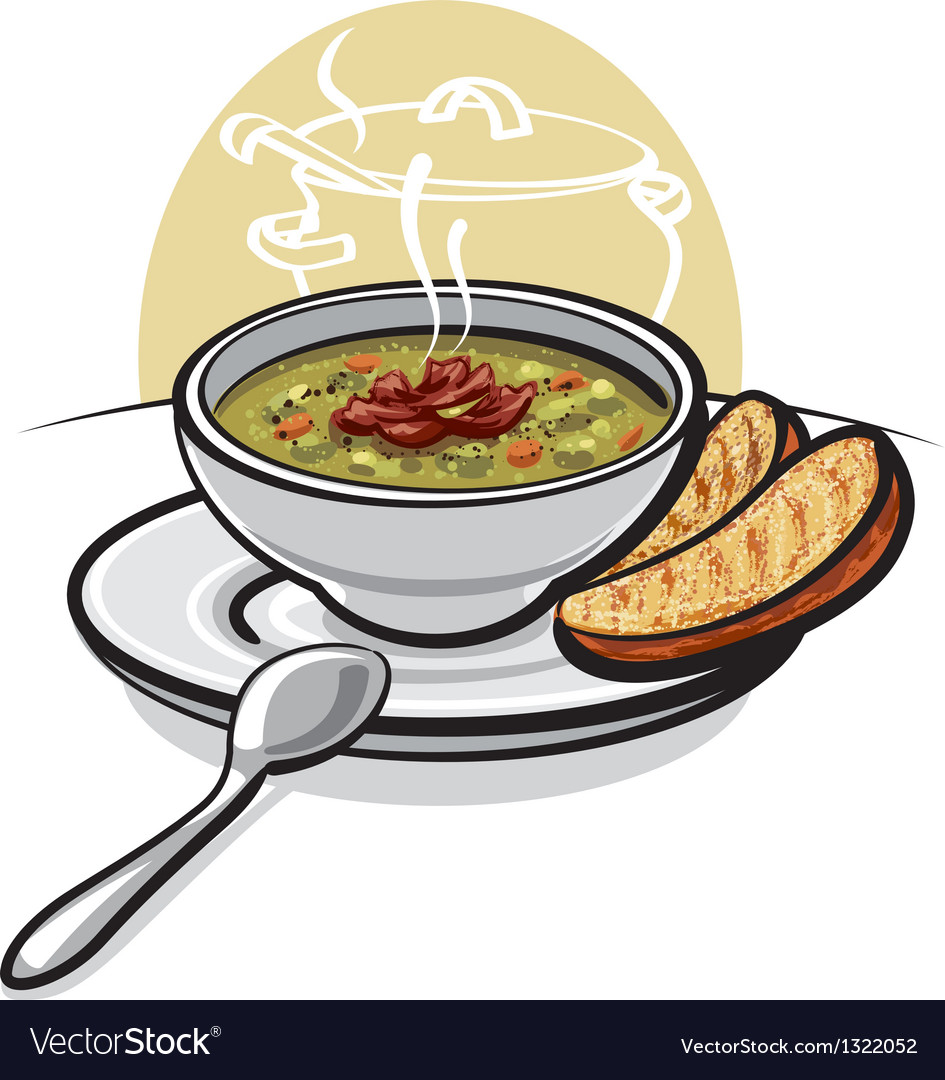 Pea soup vector | Price: 3 Credit (USD $3)