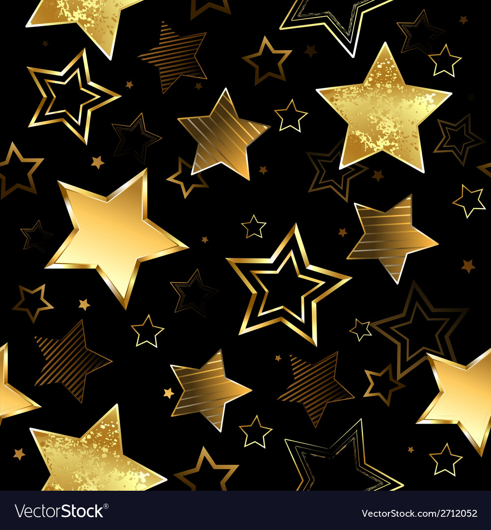 Seamless with golden stars vector | Price: 1 Credit (USD $1)