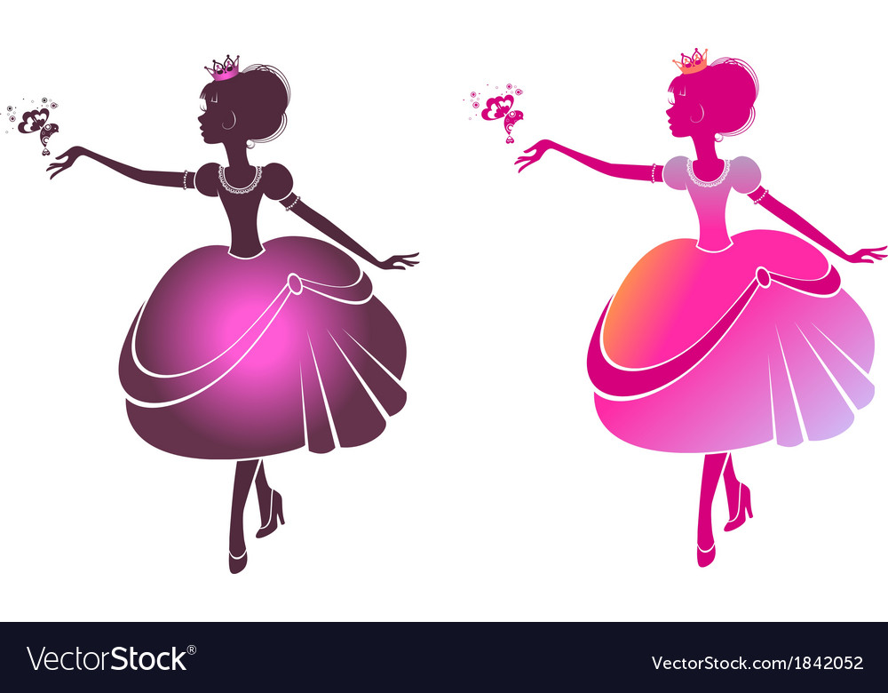 Silhouette of a beautiful princesses vector | Price: 1 Credit (USD $1)