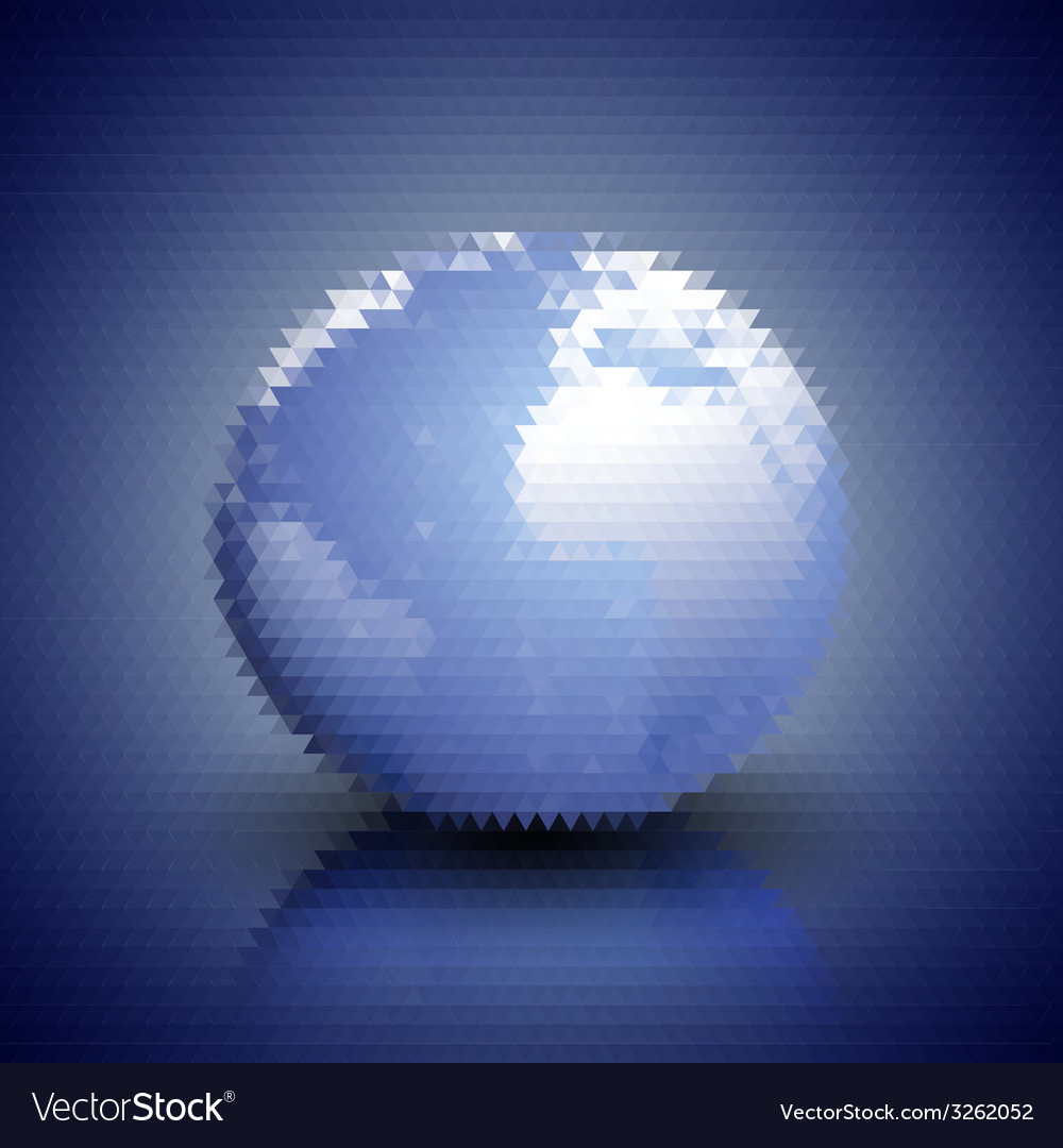 World globe blue geometric background abstract vector | Price: 1 Credit (USD $1)