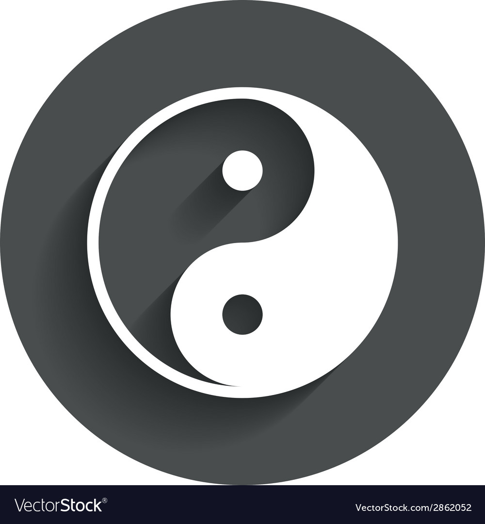Ying yang sign icon harmony and balance symbol vector | Price: 1 Credit (USD $1)