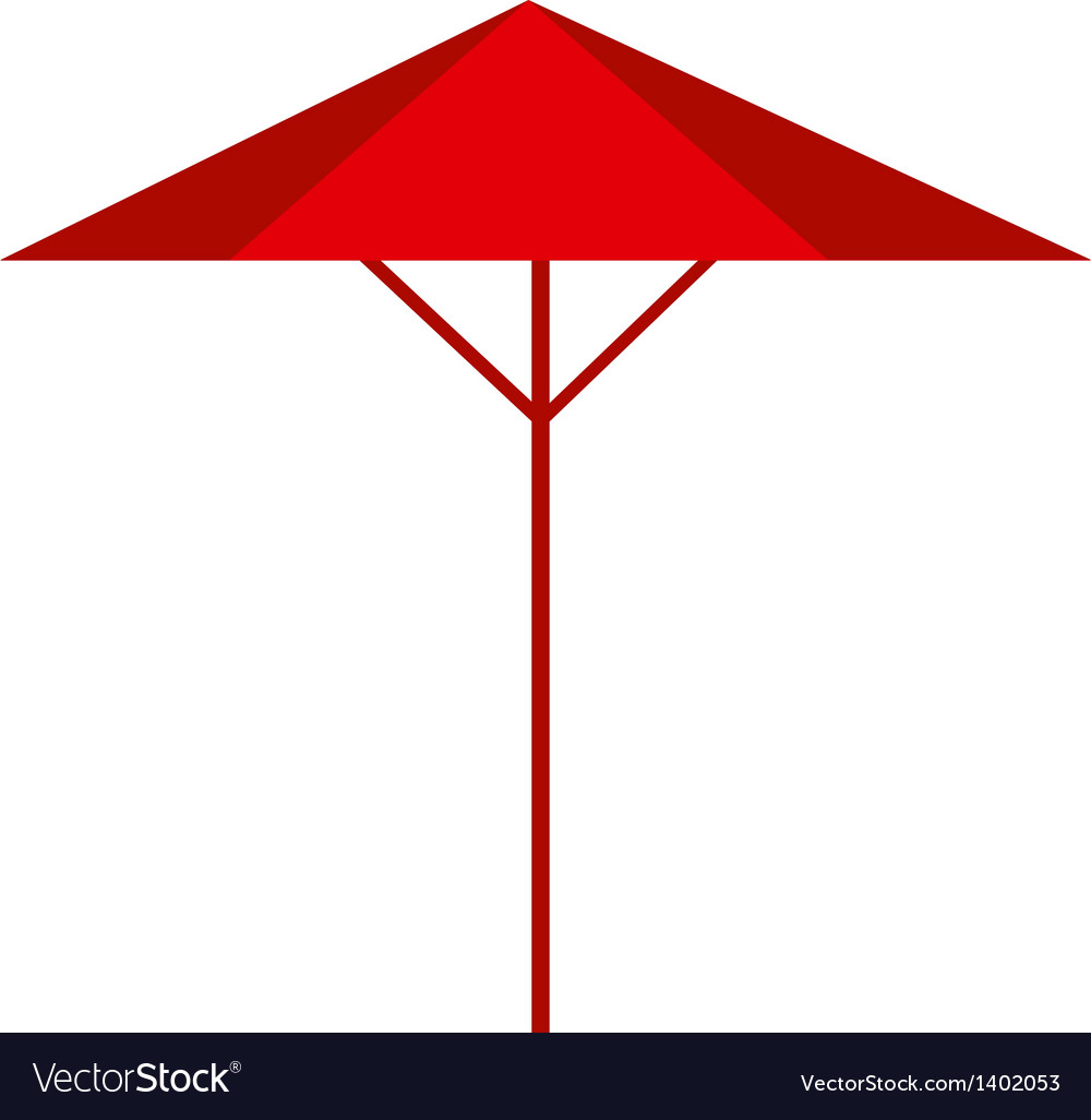 A parasol vector | Price: 1 Credit (USD $1)