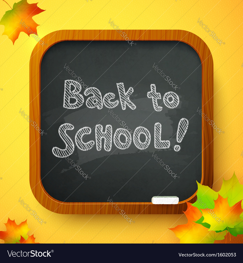 Back to school autumn chalkboard card vector | Price: 1 Credit (USD $1)