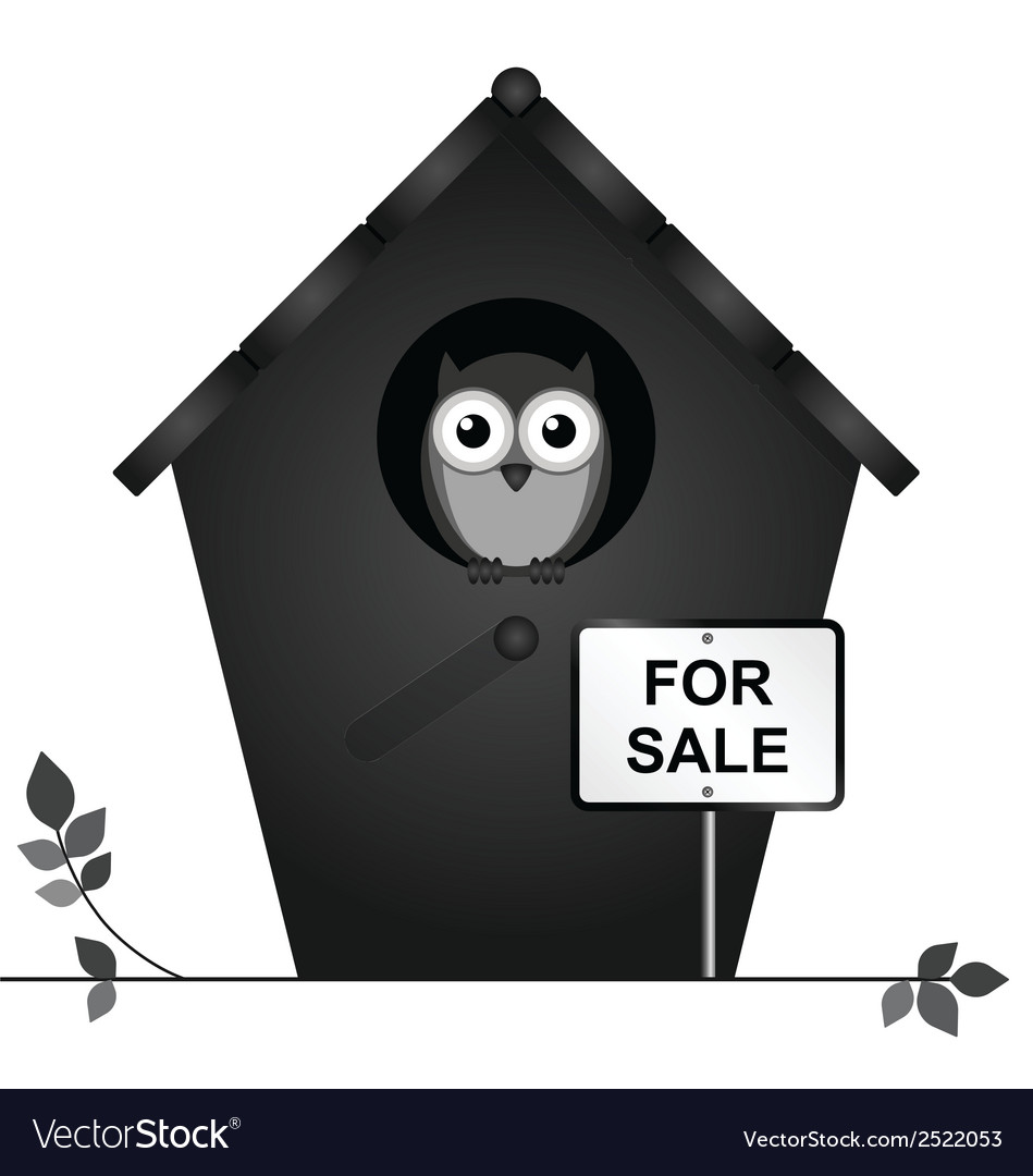 Birdhouse for sale vector | Price: 1 Credit (USD $1)