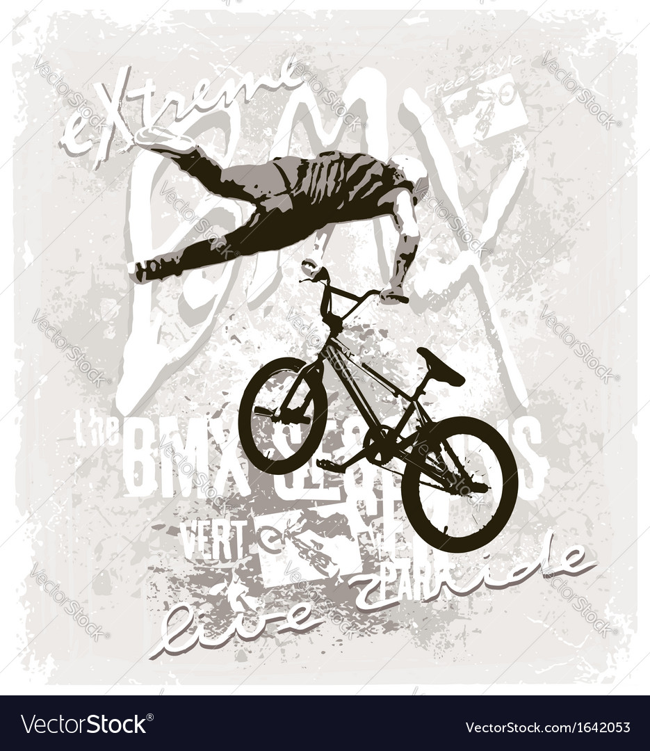 Bmx extreme free style vector | Price: 1 Credit (USD $1)